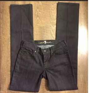 7 FOR ALL MANKIND JEANS SZ 24 STRAIGHT LEG!!!